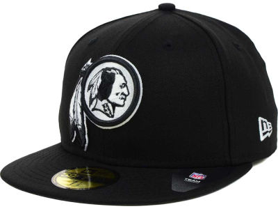 Washington Redskins NFL Black And White 59FIFTY Cap Hats