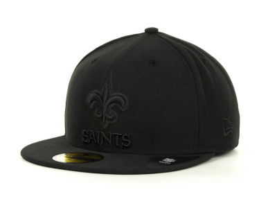 New Orleans Saints NFL Black on Black 59FIFTY Cap Hats