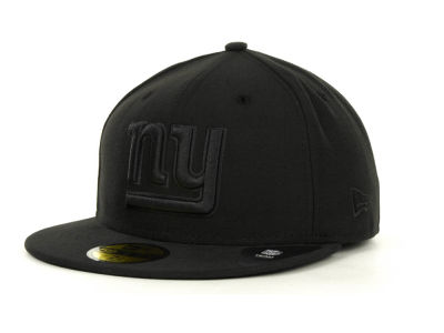 New York Giants NFL Black on Black 59FIFTY Cap Hats