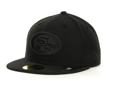 San Francisco 49ers NFL Black on Black 59FIFTY Cap Hats