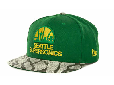 Seattle SuperSonics NBA Hardwood Classics Snake Thru 9FIFTY Strapback Hats