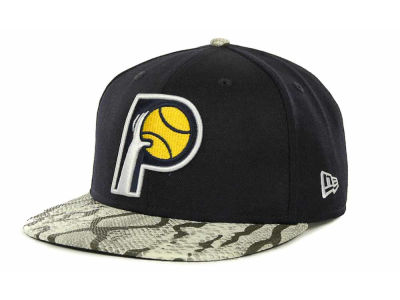 Indiana Pacers NBA Hardwood Classics Snake Thru 9FIFTY Strapback Hats