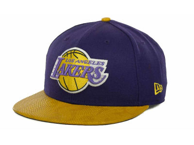 Los Angeles Lakers NBA Hardwood Classics Snake Thru 9FIFTY Strapback Hats