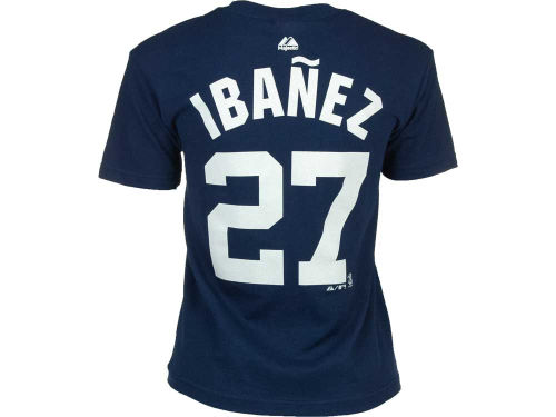 New York Yankees Raul Ibanez Majestic MLB Player T-Shirt
