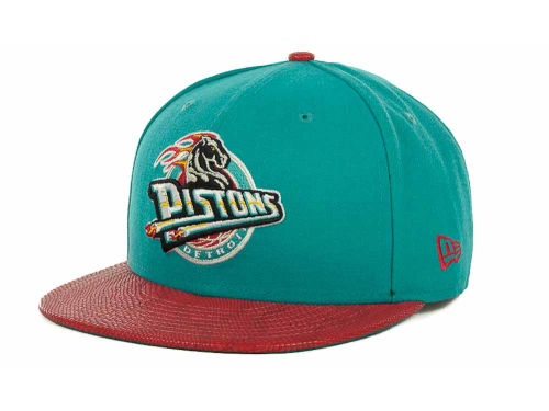 Detroit Pistons New Era NBA Hardwood Classics Snake Thru 9FIFTY Strapback Hats