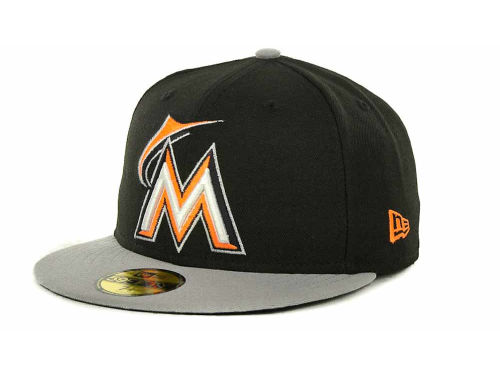 Miami Marlins New Era MLB Exclusive Patch 59FIFTY Cap Hats