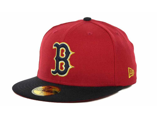Boston Red Sox New Era MLB Exclusive Patch 59FIFTY Cap Hats