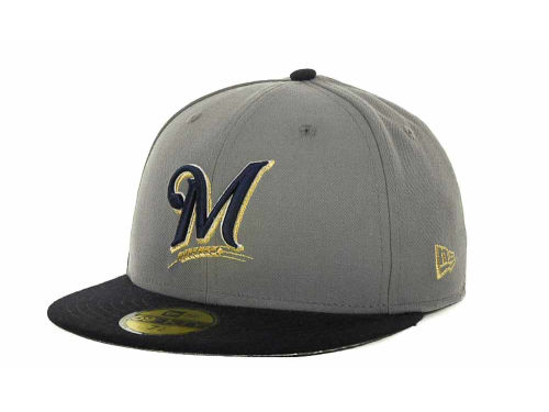 Milwaukee Brewers New Era MLB Exclusive Patch 59FIFTY Cap Hats