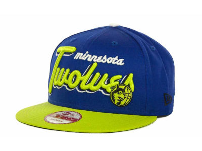 Minnesota Timberwolves NBA Hardwood Classics Bright Nights 9FIFTY Caps Hats