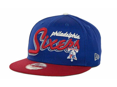 Philadelphia 76ers NBA Hardwood Classics Bright Nights 9FIFTY Caps Hats