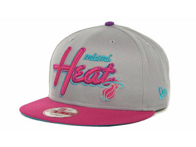 Miami Heat NBA Hardwood Classics Bright Nights 9FIFTY Caps Hats