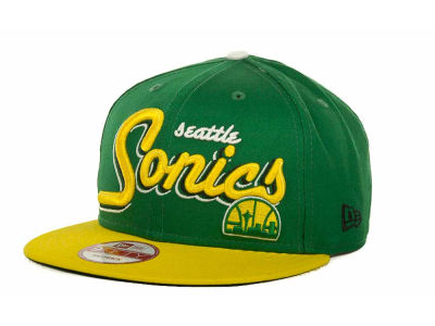Seattle SuperSonics NBA Hardwood Classics Bright Nights 9FIFTY Caps Hats
