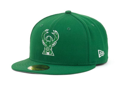 Milwaukee Bucks NBA Hardwood Classics League Basic 59FIFTY Cap Hats