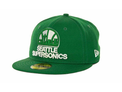 Seattle SuperSonics NBA Hardwood Classics League Basic 59FIFTY Cap Hats