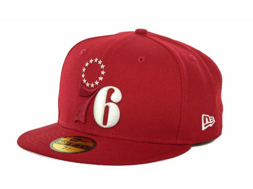 Philadelphia 76ers New Era NBA Hardwood Classics League Basic 59FIFTY Cap Hats