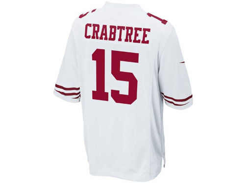 San Francisco 49ers Michael Crabtree Nike NFL Youth Game Jersey