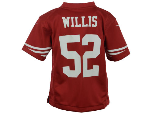 San Francisco 49ers Patrick Willis Outerstuff NFL Kids Game Jersey