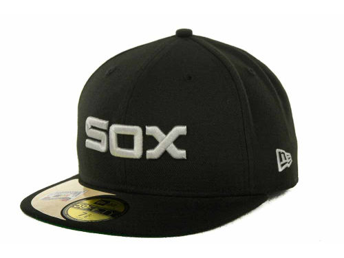 Chicago White Sox New Era MLB Cooperstown Patch 59FIFTY Cap Hats