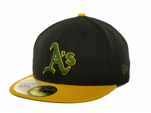 Oakland Athletics New Era MLB Cooperstown Patch 59FIFTY Cap Hats