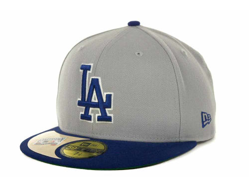 Los Angeles Dodgers New Era MLB Cooperstown Patch 59FIFTY Cap Hats