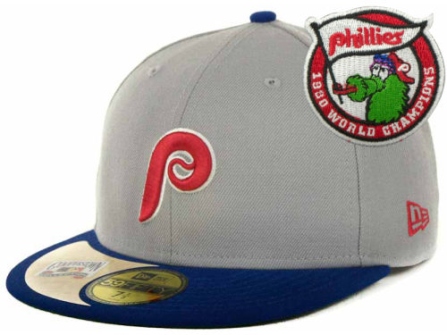 Philadelphia Phillies New Era MLB Cooperstown Patch 59FIFTY Cap Hats