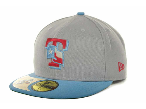 Texas Rangers New Era MLB Cooperstown Patch 59FIFTY Cap Hats