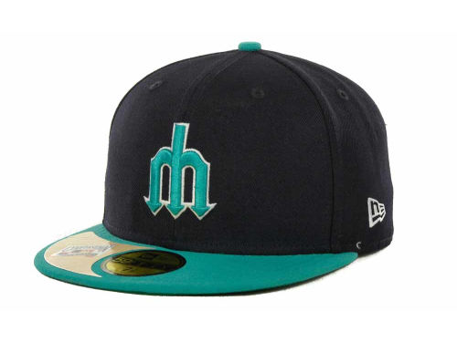 Seattle Mariners New Era MLB Cooperstown Patch 59FIFTY Cap Hats