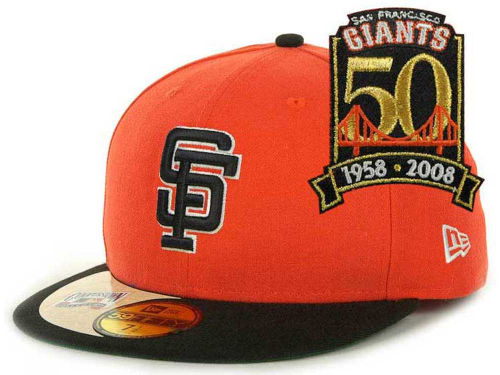 San Francisco Giants New Era MLB Cooperstown Patch 59FIFTY Cap Hats