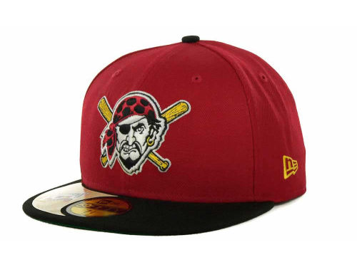 Pittsburgh Pirates New Era MLB Cooperstown Patch 59FIFTY Cap Hats
