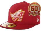 Los Angeles Angels of Anaheim New Era MLB Cooperstown Patch 59FIFTY Cap Fitted Hats