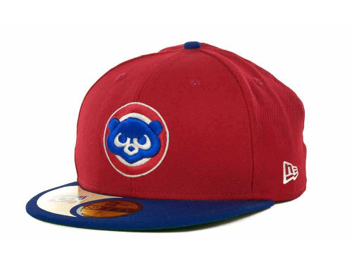 Chicago Cubs New Era MLB Cooperstown Patch 59FIFTY Cap Hats