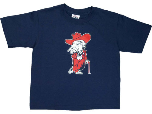 Mississippi Rebels Blue 84 NCAA Mascot T-Shirt