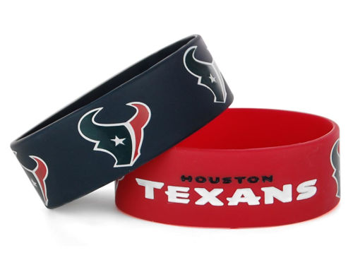 Houston Texans Wide Bracelet 2pk Aminco