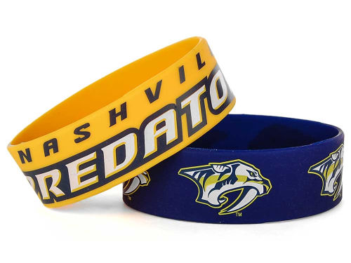 Nashville Predators Aminco Inc. Wide Bracelet 2pk