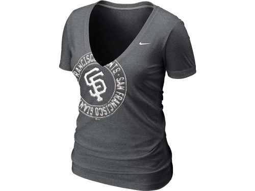 San Francisco Giants Nike MLB Womens Deep V T-Shirt 12