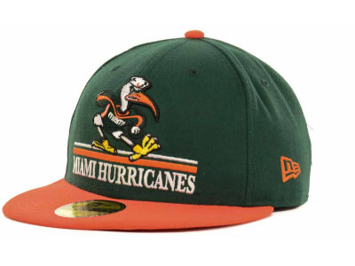 Miami Hurricanes NCAA 2 Tone 59FIFTY Cap Hats