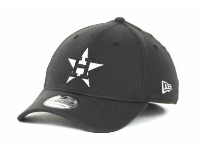 Houston Astros MLB Black and White Ace 39THIRTY Hats