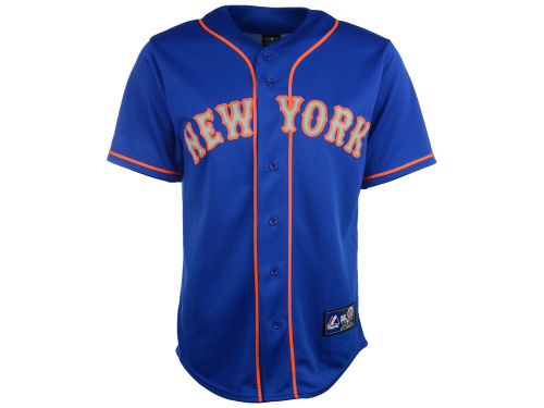 New York Mets Majestic MLB Blank Replica Jersey