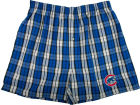 Chicago Cubs MLB Plaid Campus Boxer Shorts Underwear