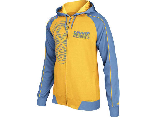 Denver Nuggets adidas NBA Showtime Full Zip Hoodie
