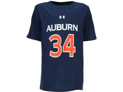 Auburn Tigers Under Armour NCAA UA Youth Basketball Player T-Shirt