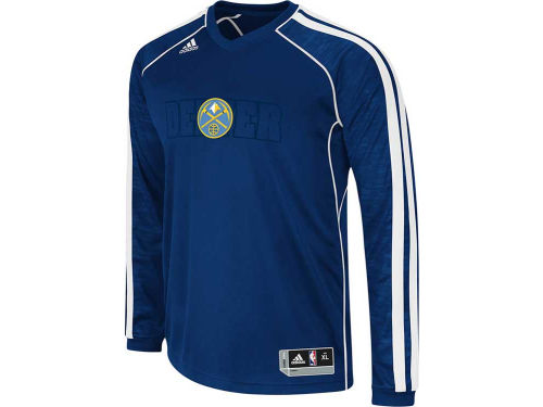 Denver Nuggets adidas NBA Road On-Court Long Sleeve Shooter