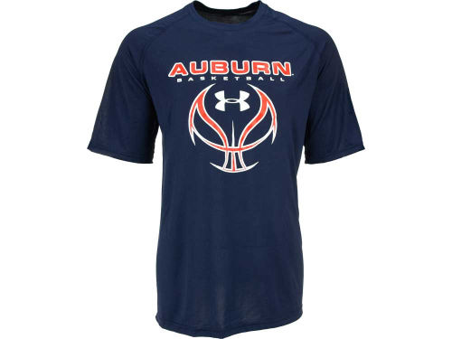 Auburn Tigers Under Armour NCAA UA Basketball Skeletal Ball T-Shirt