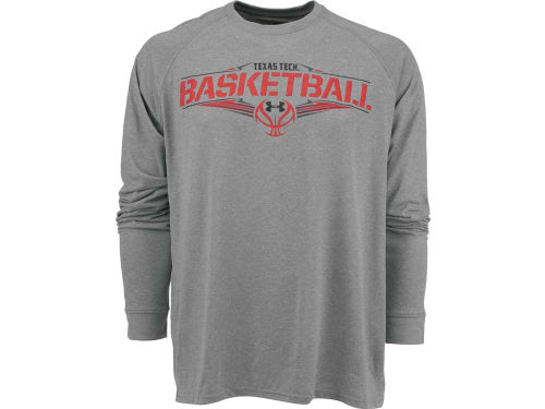 Texas Tech Red Raiders Under Armour NCAA UA Basketball Skeletal Ball Sport Long Sleeve T-Shirt