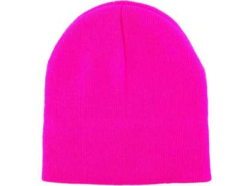 Neon Pink Slider Knit  Hats