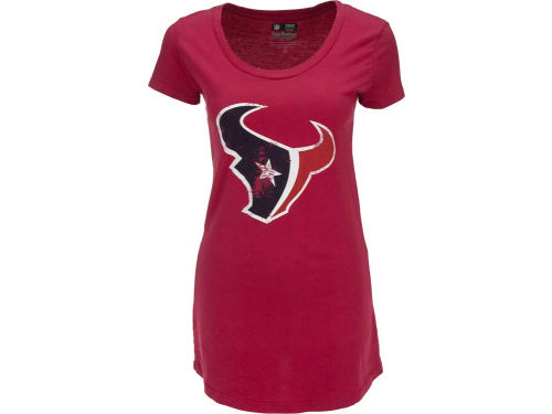 Houston Texans Majestic NFL Womens Soft Hand Scoop Neck T-Shirt