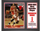 Chicago Bulls Derrick Rose Mounted Memories NBA 2010-2011 MVP 8x10 Player Plaque Collectibles