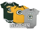Green Bay Packers Outerstuff NFL Newborn 3pcs Foldover NeckCreeper Set Infant Apparel