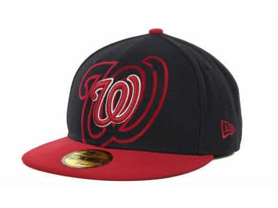 Washington Nationals Over Flock 59FIFTY Cap Hats