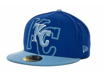 Kansas City Royals Over Flock 59FIFTY Cap Hats